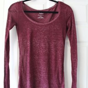 Long Sleeve Red American Eagle Tee